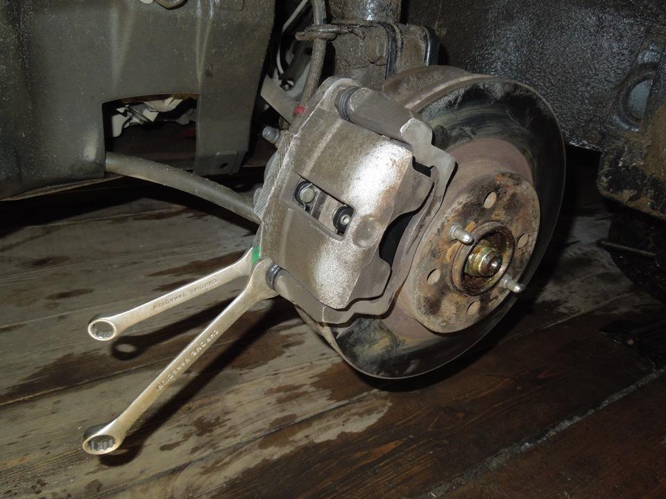 Замена тормозных дисков на приоре