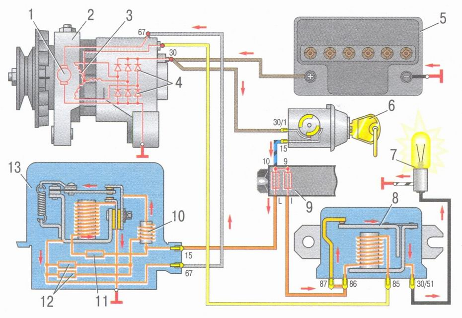 Схема электропроводки ваз 2107 | лада мастер.