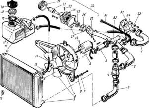 Система отопления ваз 2115 инжектор схема