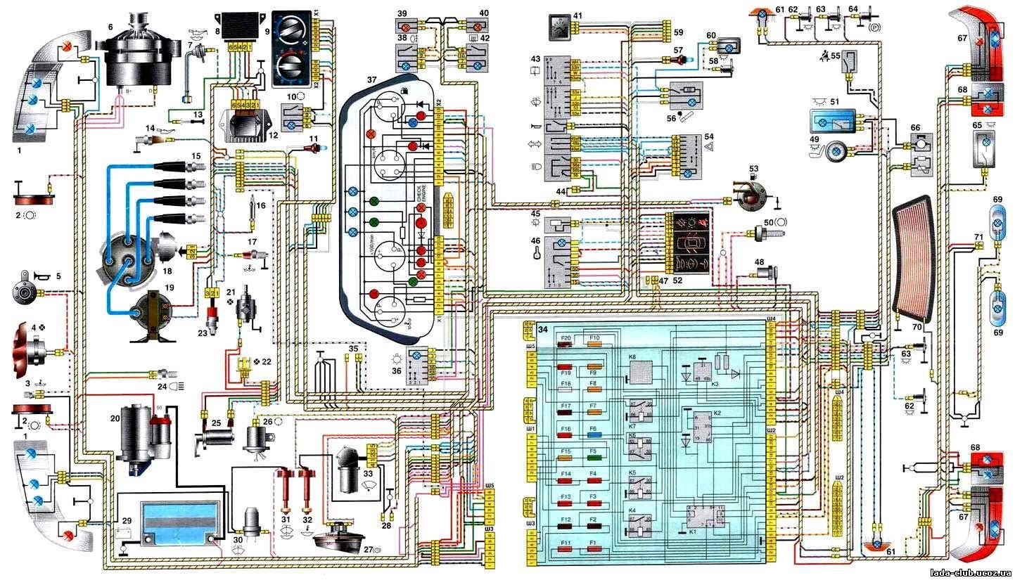 2111 схема проводки фото
