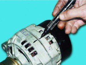 Замена подшипников генератора ВАЗ-2114