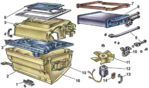 Разобрать печку на ВАЗ-2107