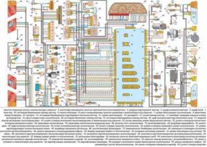 Электросхема ВАЗ-2109 инжектор