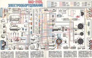 Схема электрики ваз 2105 фото 461