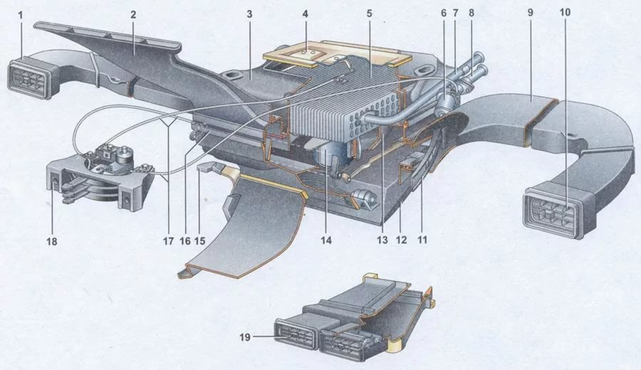 Ваз 2107 инжектор схема отопления