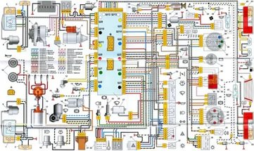 Вся электрика 2108 схема