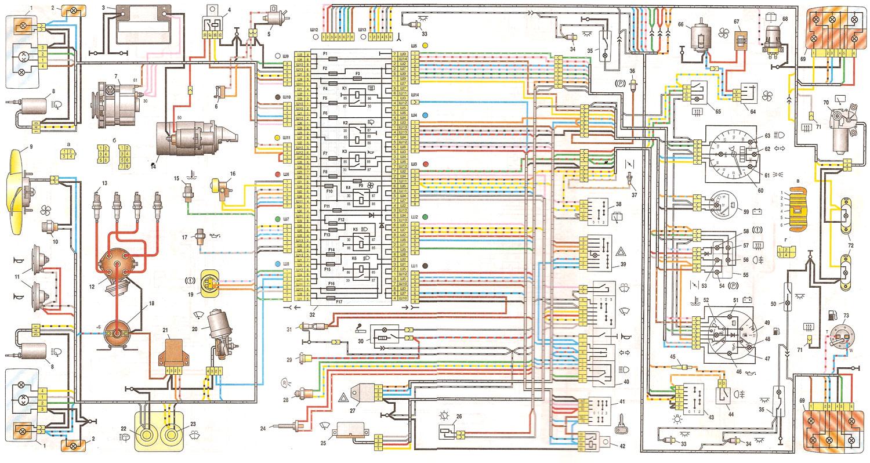 схема электрооборудования 2113