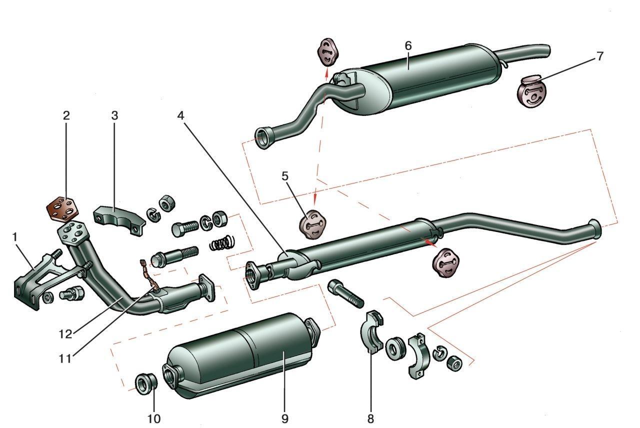 Выхлопная система авео схема
