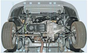 Схема и устройство передней подвески Лада Приора
