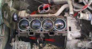 Пошаговая замена прокладки головки блока цилиндров ВАЗ 2109