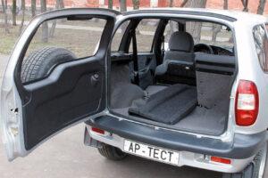 Какой объем багажника у Нива Шевроле