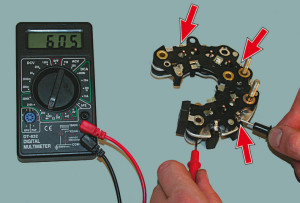 Проверка генератора ваз 2110 мультиметром видео