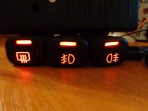 Пересвет кнопок ВАЗ-2114 светодиодами