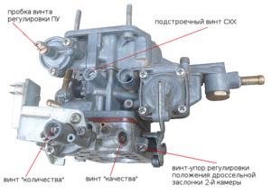 Регулировка карбюратора ВАЗ-2105