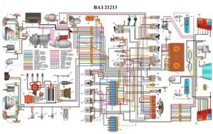 opisanie elektrosxemy niva 2121 1 300x189 - Схема электрооборудования ваз 2121 нива карбюратор