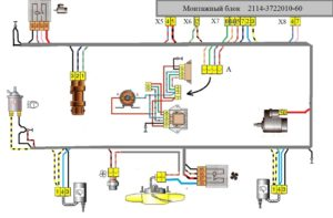 Подкапотная проводка ВАЗ-2109