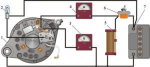 Схема подключения генератора ВАЗ-2105