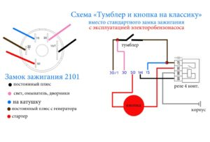 Схема замка зажигания