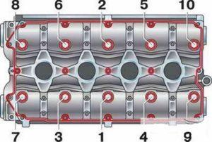 затяжки ГБЦ Лада Приора 8 и 16 клапанов