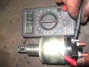 втягивающего реле стартера ВАЗ-2109