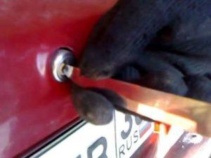 Открыть дверь и багажник ВАЗ-2109 без ключа